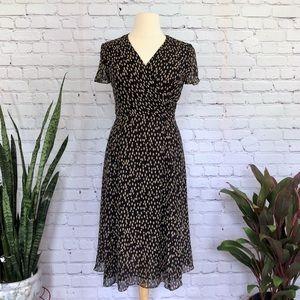 Talbots Silk Polka Dot Wrap Dress